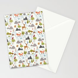 Funny Forest Map Stationery Cards