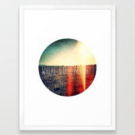 Dry Earth Framed Art Print