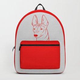 Xoloitzcuintli (Light Gray and Red) Backpack