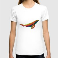the whale T-shirts featuring Whale by Luna Portnoi