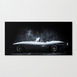 Jaguar E-Type XKE Profile Canvas Print