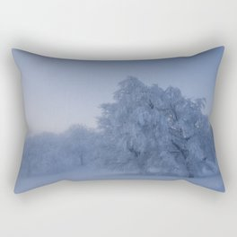 Black Forest Snowy Trees - Landscape Photography Rectangular Pillow