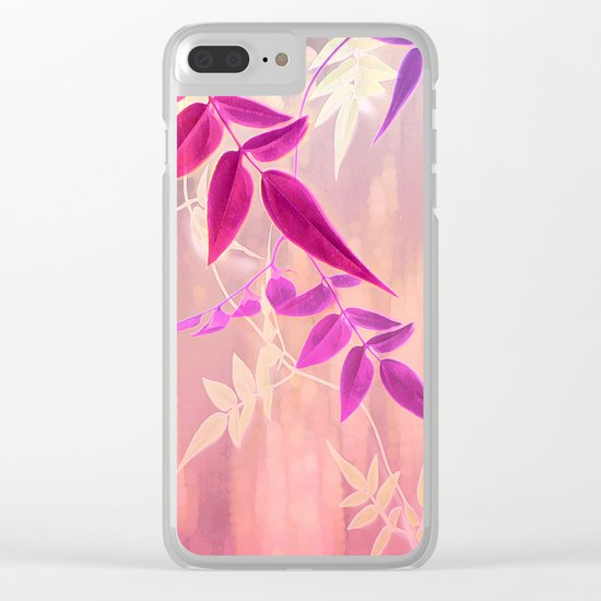 Jasmine Sunrise Clear iPhone Case