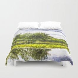 The Lily Pond Art Duvet Cover