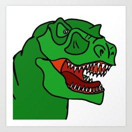 Green T-Rex Art Print