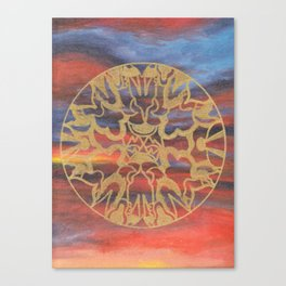 Sunset over Heaven Canvas Print
