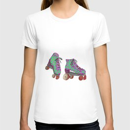 Lime Spotted Roller Skates T-shirt
