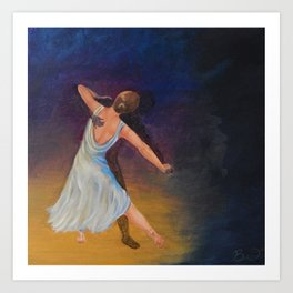 Dancing with Shadows Art Print