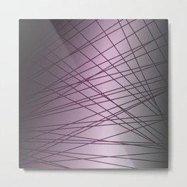 design lines on pink. pink elements Metal Print