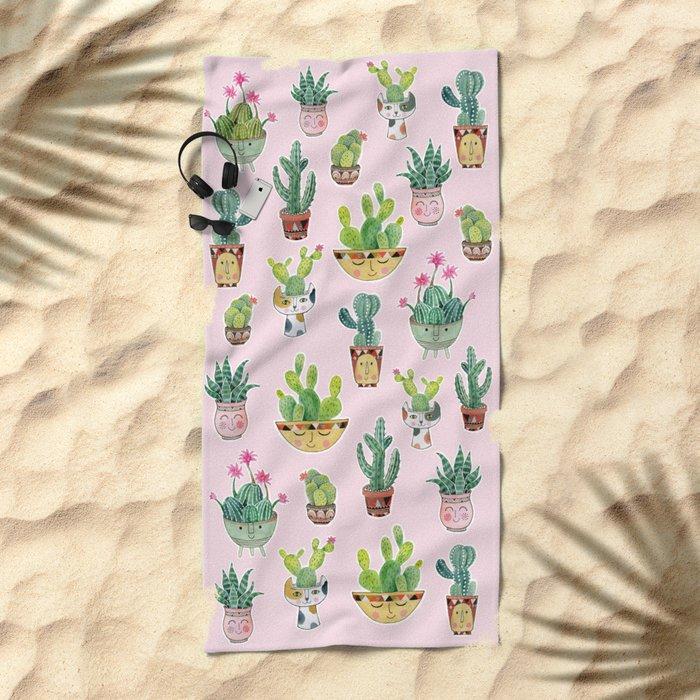 Cactus Pots Beach Towel