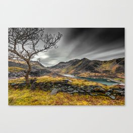 Peris Lake Snowdonia Canvas Print
