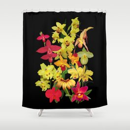 Orchids - Hot Colors! Shower Curtain