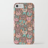 bunnies iPhone & iPod Cases featuring Bunnies by Olya Yang