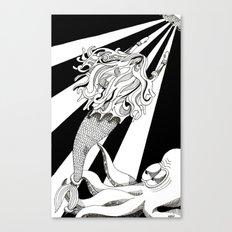 Sea Struggle Canvas Print