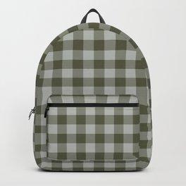 gingham-olive Backpack