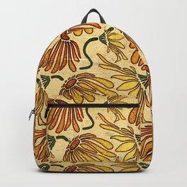 Retro 70's Golden Yellow Daisy Pattern  Backpack