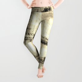 Manhattan Bridge New York Vintage Leggings