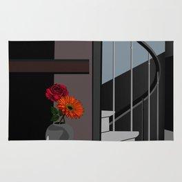 Stair Poster, Room Decor ideas, Flower Portrait Print, Flower Poster ideas, Small Room Decor, Minima Rug