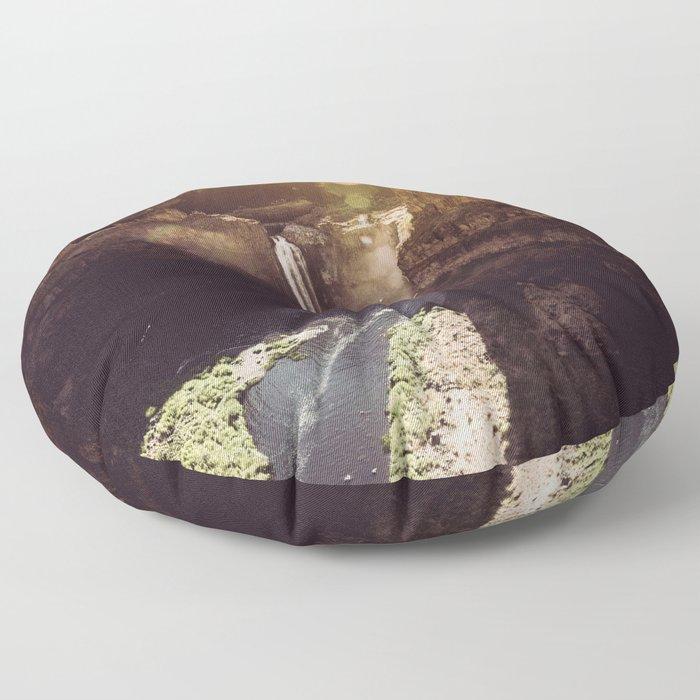 Desert Waterfall Floor Pillow