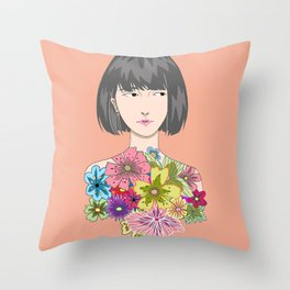 Watashi Throw Pillow
