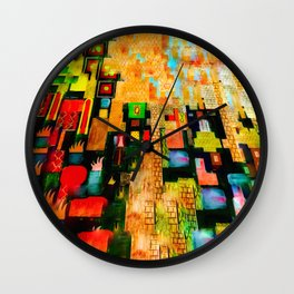 Ancient Temple of Wind Wall Clock