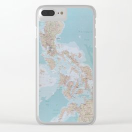 Map of The Philippines (1990) Clear iPhone Case