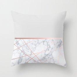 Rosegold grey Throw Pillow