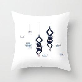 Two Hanging Ninjas Throw Pillow
