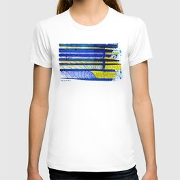 WAY OF THE OCEAN - Yellow & Blue Waves T-shirt