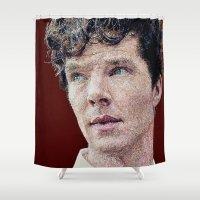 cumberbatch Shower Curtains featuring Benedict Cumberbatch Portrait #6 by RebekahStanhope
