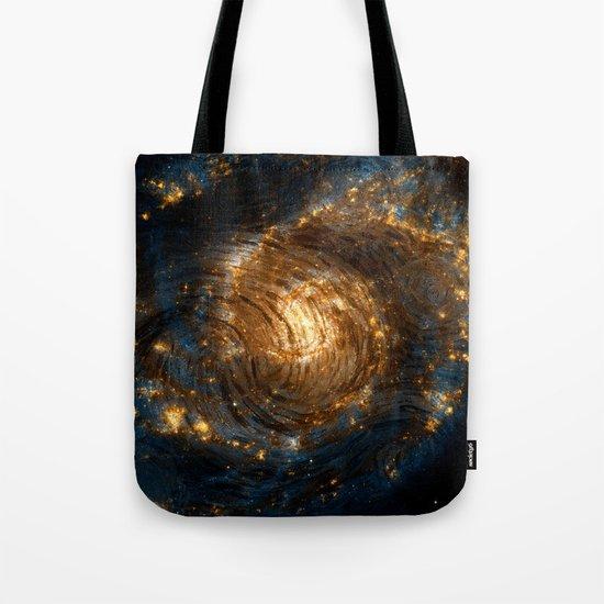 Starry Galaxy Night Tote Bag