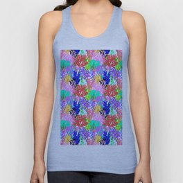 Coral Collection in Bright Multi + White Unisex Tank Top