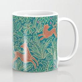 Jungle Fawn and Cat Coffee Mug
