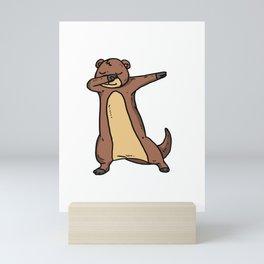 Funny Dabbing Otter Dab Sea Animal Lover Gift Mini Art Print