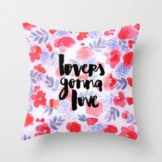 Lovers [Collaboration with Jacqueline Maldonado] Throw Pillow