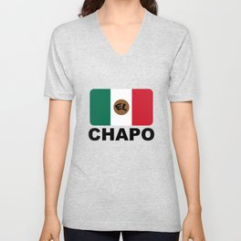 El Chapo Mexican flag Unisex V-Neck