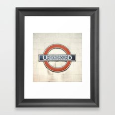 Underground - London Metro Photography Framed Art Print