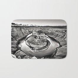 Horseshoe Bend Arizona Black and White Bath Mat
