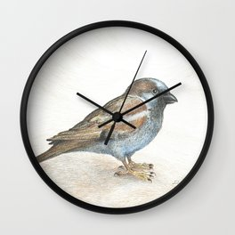 His eye is on the sparrow Wall Clock