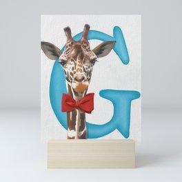 G is for Giraffe Mini Art Print