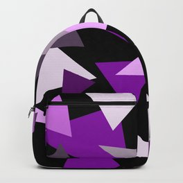 Purple Triangels on black background Backpack