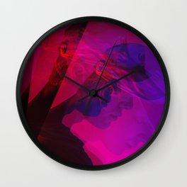 superimposed portrait Wall Clock