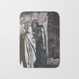 Arthur Rackham - Siegfried and the Twilight of the Gods (1911) - O wife betrayed, I will avenge Bath Mat