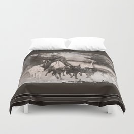 Going To The Dogs Duvet Cover