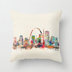 st louis missouri Throw Pillow