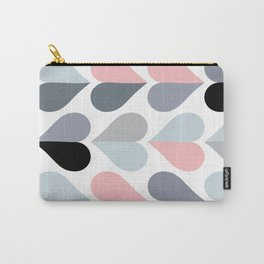 Love and Kisses in Pink and Grey Carry-All Pouch