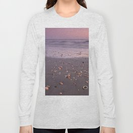 The Beach Of The Shells. Purple sunset Long Sleeve T-shirt