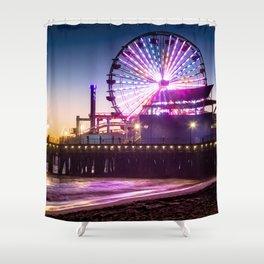 Santa Monica evenings Shower Curtain