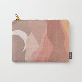 Minimalist Minimal Mountain Landscapes Colour Block Moon Pastel Neutral Colours Midcentury Modern Cool Magical Mystical Abstract Art Bohemian Boho Style Trendy  Carry-All Pouch