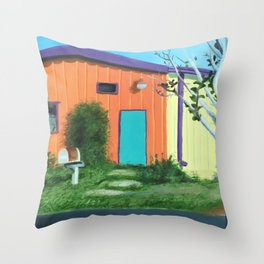 Railroad Square Throw Pillow